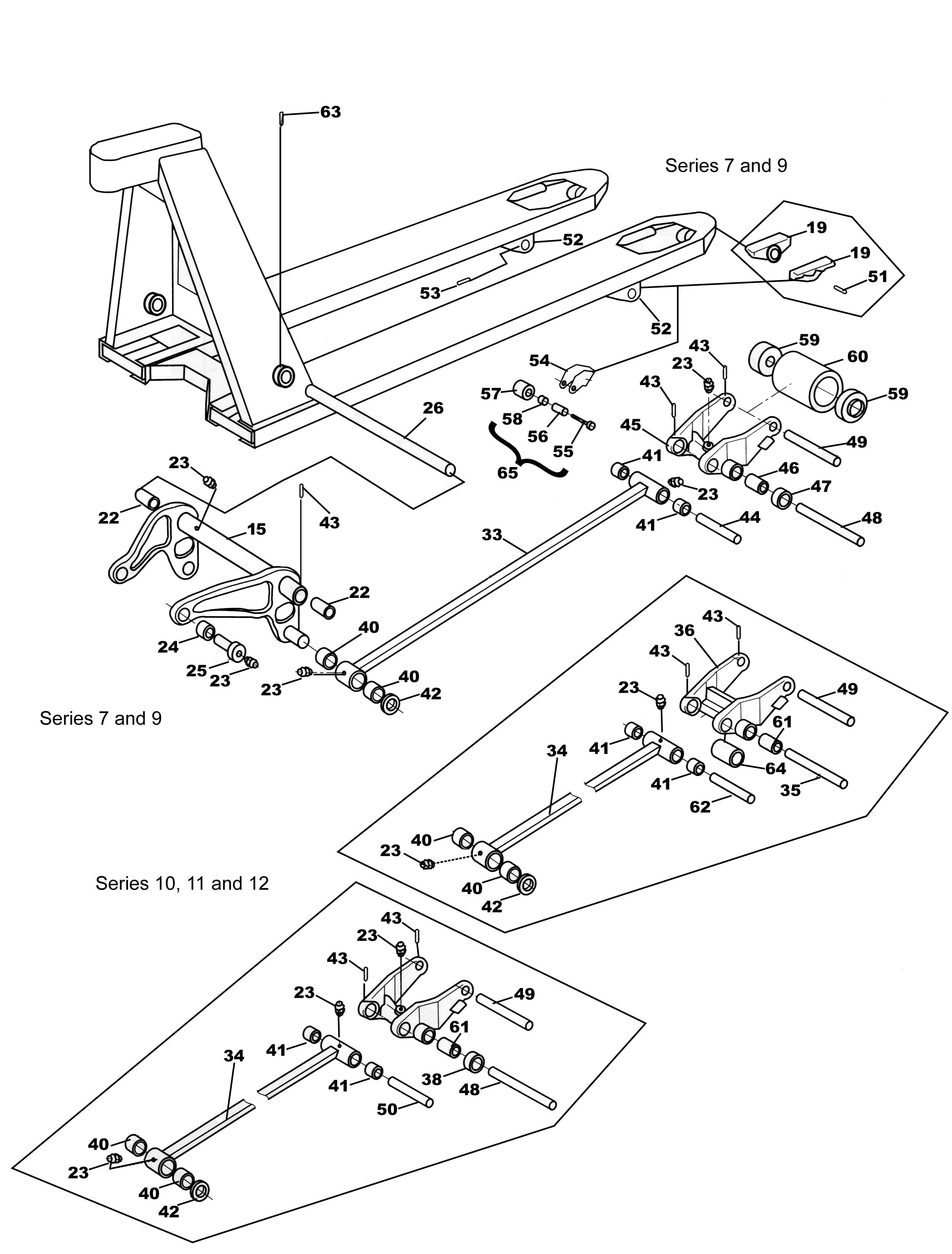 Bt L U And L U Frame on Bt Pallet Jack Parts