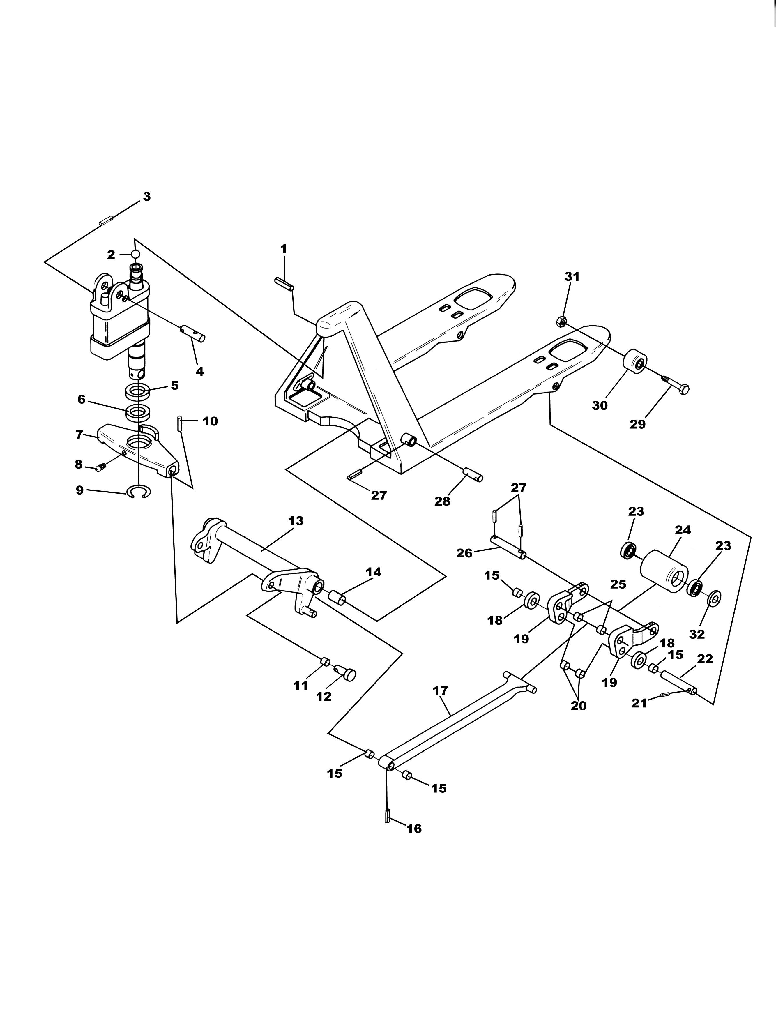 crown pallet jack parts diagram